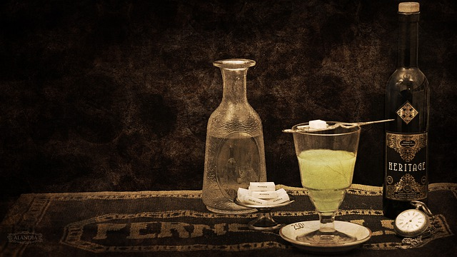 Absinthe Glass and Sugar